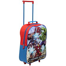 NEW OFFICIAL Marvel Avengers Boys Kids Case Luggage Travel Trolley Wheeled Bag