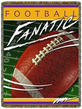 FOOTBALL FANATIC Sport Tapestry Afghan Throw Blanket