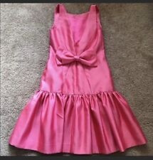 Milly New York Cocktail Dress Back Bow Pink Dress Size 6