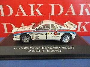Die cast 1/43 Modellino Auto Lancia 037 Rally Monte Carlo 1983 W. Rohrl by CMR