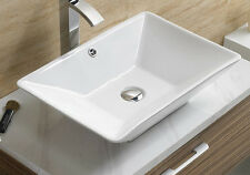 Bathroom  Ceramic Porcelain  Vessel Vanity Sink & Chrome Pop Up Drain 7880