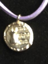 """Girls Night Out Disc TG217 Fine English Pewter On 18"""" Purple Cord Necklace"""