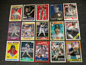 Lot Of 15 Don Mattingly MLB Major League Baseball Cards New York Yankees Captain