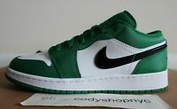 DS Nike Air Jordan 1 Low GS Pine Green sz 7Y white black celtics kids 553560-301