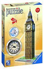 Ravensburger 125869 - Big Ben Reloj automático, puzzle 3D, 11 x 11 x 10 cm