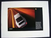 PORSCHE OFFICIAL 993 911 SILVER WHITE COUPE FACTORY POSTER 1995-1998 USA Ed