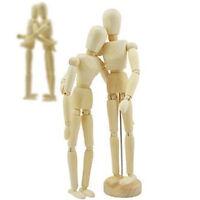 Wooden Figure Manikin Jointed Doll Mannequin Puppet Flexible Sketch Model Craft