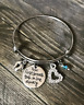 Your First Breath Took Mine Away New Mom Baby Shower Mother Bangle Bracelet Gift