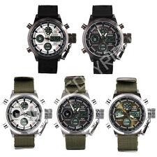 OHSEN Men Steel Quartz Digital Analog LED Army Military Sport Wrist Watch New