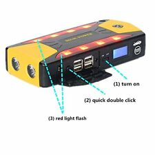 Portable 82800mAh Car Jump Starter Booster Charger Power Bank Emergency Battery
