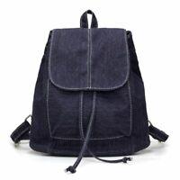 Denim Women Teenage Backpack School Small Girls Canvas Shoulder Bag