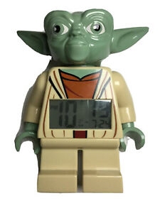 "LEGO Star Wars Yoda Minifigure Alarm Clock 9.5"" Works Well"