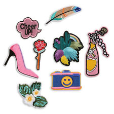 8X/Set Embroidered Iron On Sew On Patches Badge Jeans Fabric Applique Craft