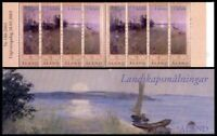 ALAND 2003 LANDSCAPE PAINTINGS IN BOOKLET OF ALL 4 COMMEMORATIVE STAMPS x 2 MNH