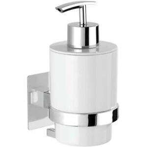 Wenko Turbo-Loc Liquid Soap Dispenser, No Drill Fixing, No Residue, 250ml, White
