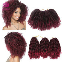 "3pcs 8"" Ombre Mali Bob Curly Hair Synthetic Afro Braids Crochet Hair Extensions"
