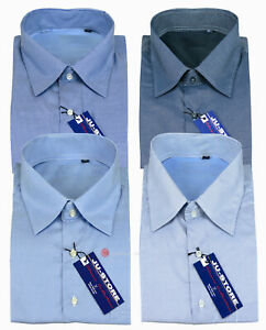 Camicia uomo Taglie Forti manica lunga Cotone fantasia righe 43 44 45 46 47 48
