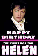 ELVIS Personalised Birthday Card THE KING'S No.1 Fan ANY NAME / AGE / RELATIVE 6