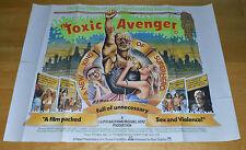 The Toxic Avenger Original UK Quad Cinema Poster Troma