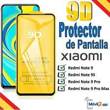 Protector de Pantalla Xiaomi Redmi Note 9 / 9S / 9 Pro / Max Cristal Templado 9D