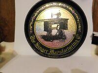 Vintage Singer Manufacturing Co. Bristolware Tin Serving Tray