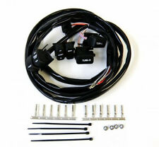BLACK SWITCHES WIRING HARNESS KIT FITS HARLEY 96-06 COMPLETE EXTENDED KIT