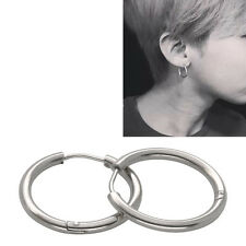 1 Pair Stainless Steel Dancer Cool Big/Small Hoop Huggie Earrings for Women Men