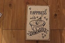 "SHABBY CHIC KITCHEN SIGN ""HAPPINESS IS HOMEMADE """