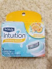 Brand New Schick Intuition Revitalizing Moisture Tropical Citrus 3 Cartridges