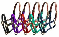 Showman Nylon Breakaway Western Horse Halter w/ Leather Crown