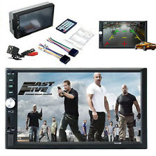 "2 Din 7"" HD Touch Screen FM Bluetooth Radio Audio Stereo Car Video Player+Camera"