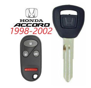 Honda Accord 1998-2002 HD106 Chip Key + Remote KOBUTAH2T USA Seller TOP Quality
