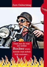 Geburtstagskarte mit Musik und Lichteffekten, Motorrad - Ein echter Rocker ...