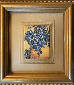 "Atelier Fine Art Van Gogh ""Still Life with Irises"" Miniature Custom Framed"
