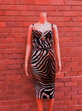 ROBERTO CAVALLI ~ 6 ~ Animal Print Corset Bustier Pencil Dress ~ MADE IN ITALY