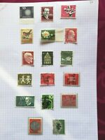 WEST GERMANY 1957-1960. 33 STAMPS USED, MH AND MNH ( 5 photos)