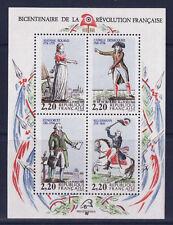 timbres France bloc  révolution  , num 10  luxe  **