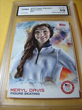 MERYL DAVIS FIGURE SKATING 2014 TOPPS US OLYMPICS # 21 GRADED 10