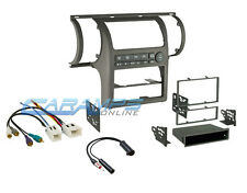 2003-2004 G35 TAN CAR STEREO RADIO DASH MOUNTING TRIM BEZEL KIT W WIRING HARNESS