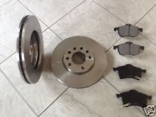 VAUXHALL ZAFIRA  1 6 18 99-05 TWO 280 MM VENTED FRONT BRAKE DISCS SET OF PADS