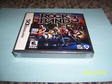 Rock Band 3  (Nintendo DS, 2010) new dsl dsi 3ds
