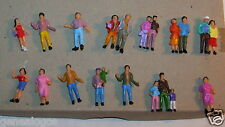 SUPER LOT HO 1/87 14 FIGURINES 21 PERSONNAGES TRAIN RESEAU