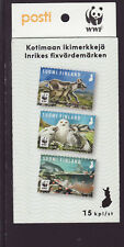 Finland 2018 MNH - Endangared species II - WWF - booklet of 15 stamps, 5 sets