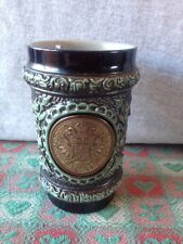 1780 Thaler Coin On Pottery Tumbler With Cherubs