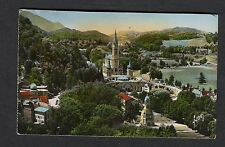 Posted 1949 Panoramic View of Lourdes Church & Surrounding Area, France