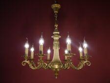 brass 8 light chandelier old ceiling lamp antique old