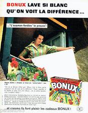 PUBLICITE ADVERTISING 096  1962  la lessive  Bonux cadeaux Mme Gauthier Houlgate