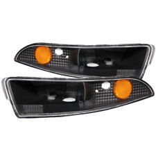 ANZO for 1993-2002 Chevrolet Camaro Euro Parking Lights Black w/ Amber Reflector
