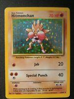 1x Hitmonchan 7/102 Base Set Holo Rare Pokemon Card