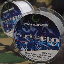 Gardner Tackle Hydro flo Line 3lb - 18lb Green or Clear Carp Coarse Fishing